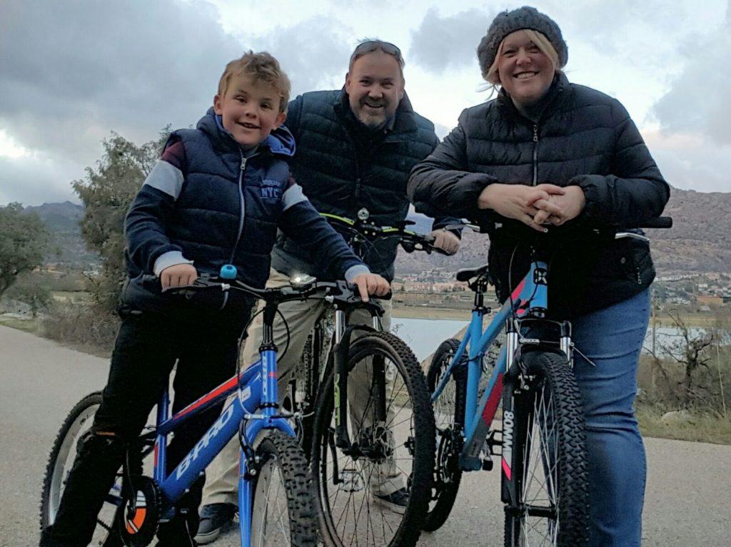 LAE Kids' Natasha Mason and family biking