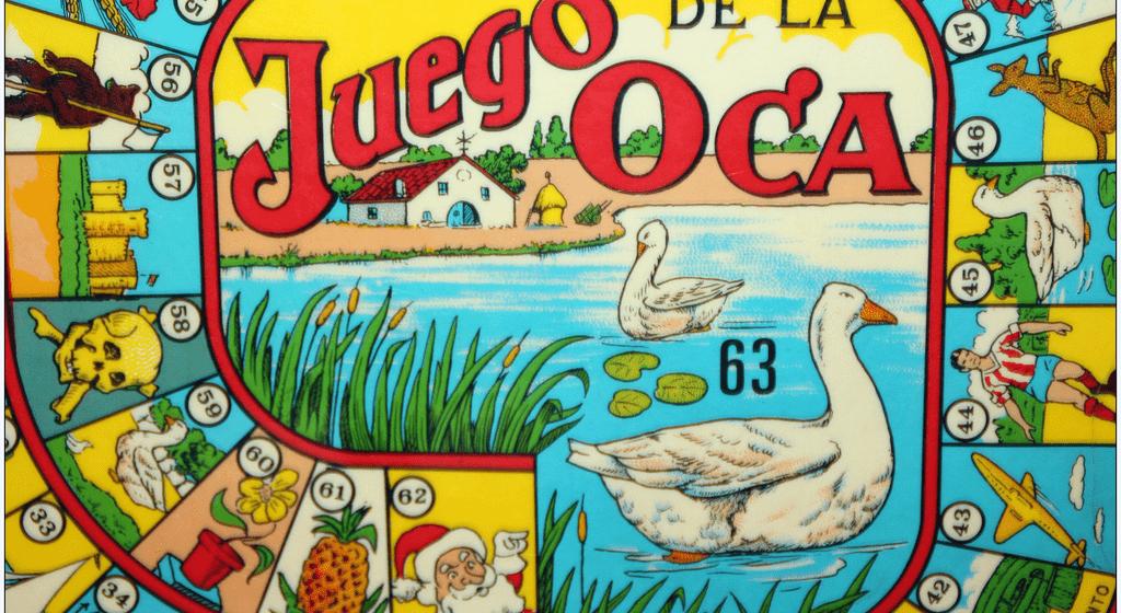 Typical Spanish games juego de la oca