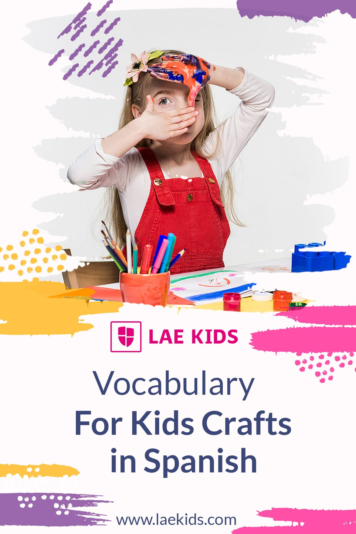 Vocabulary For Kids Craft In Spanish